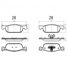 Колодки тормозные Lada X-Ray Logan 2